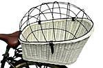 Плетеная корзина  для перевозки животных на велосипеде, фото 2