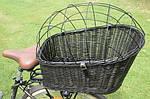 Плетеная корзина  для перевозки животных на велосипеде, фото 3