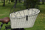 Плетеная корзина  для перевозки животных на велосипеде, фото 4