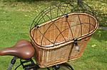 Плетеная корзина  для перевозки животных на велосипеде, фото 5