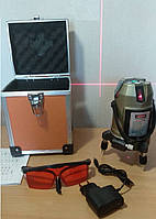 Лазерный уровень, нивелир ✦Fst✦ 5 линий, 6 точек✦Li-ion в подарок