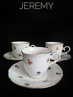Набір чайних пар 150 мл. (6 шт. В упак.) Дрібні квіти Jeremy Чехия