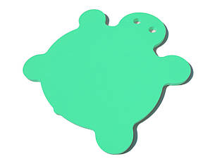 Матрас для плавания (плот, мат для плавания) EVA-LINE Черепаха 950*900*30 мм зеленый