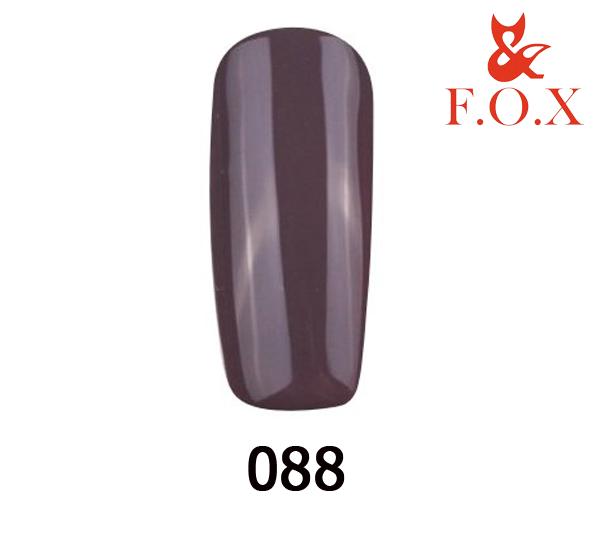 Гель-лак FOX Pigment № 088 ( серо-коричневый), 6 мл