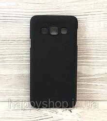 Силиконовый чехол-накладка для Samsung Galaxy A3 2015 (A300) (Черный)