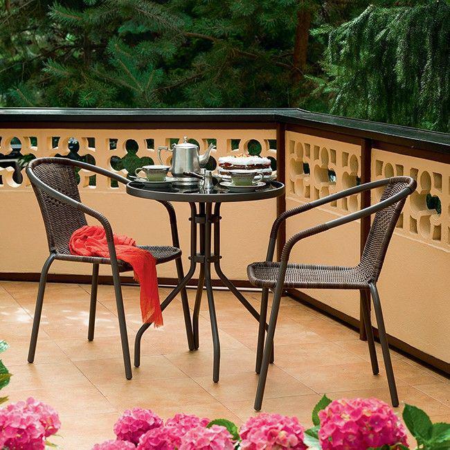 Набор садовой мебели BISTRO стол +2 кресла Польша
