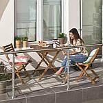 Набор садовой мебели Eila стол + 2 кресла дерево (эвкалипта) Польша, фото 2