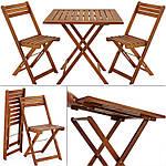 Набор садовой мебели Eila стол + 2 кресла дерево (эвкалипта) Польша, фото 3