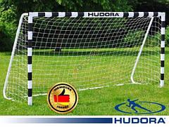 Ворота футбольные Hudora 300x200x90cm +сетка Германия