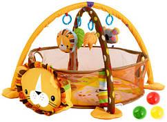 Детский коврик манеж 3w1 шариками 0+  KINDEREO Польша