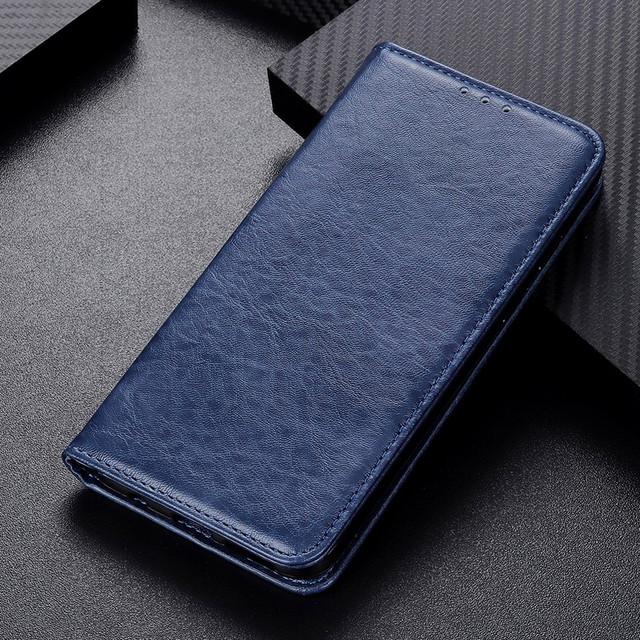 Samsung Galaxy a10s чехол книжка со встроенной магнитной застежкой синий