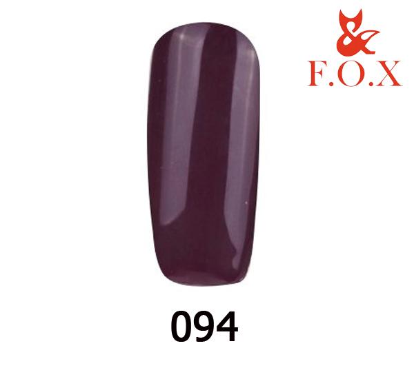 Гель-лак FOX Pigment № 094 (сливовий емаль), 6 мл