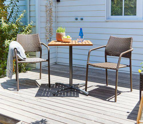 Набор садовой мебели YTTRUP 62см + 2 MADERNE коричневий