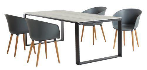 Набор садовой мебели KOPERVIK 210см +4 VARMING сірий