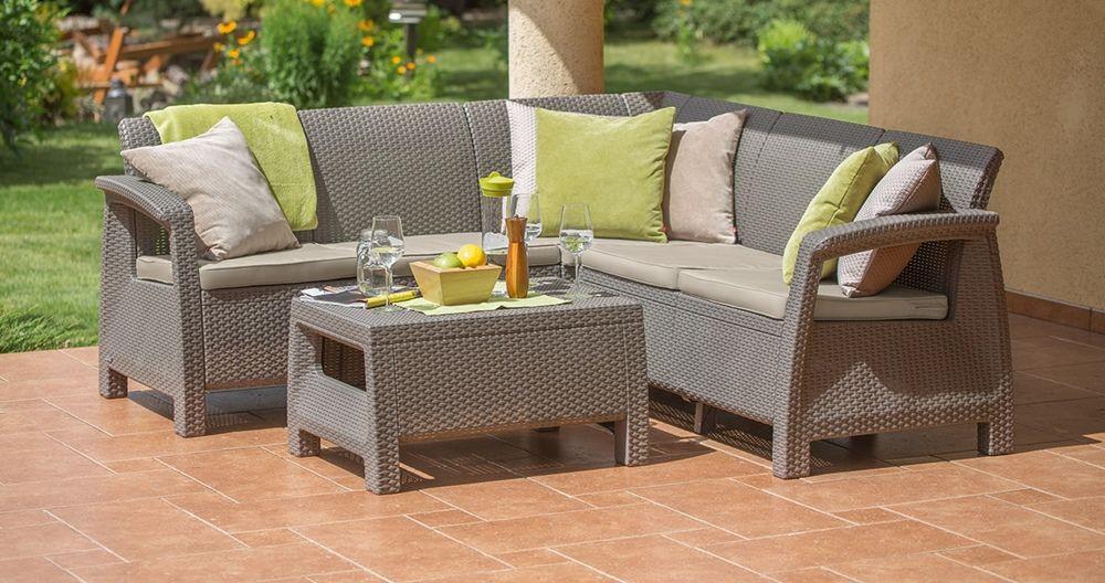 Набір садових меблів Allibert Corfu Relax