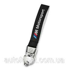 Оригинальный брелок BMW M Motorsport Key Ring Pendant, Black (80272461131)