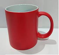 Чашка для сублимации Хамелеон, матовая (красный)