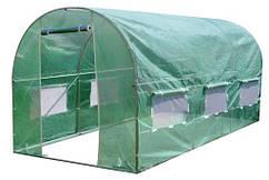 Садовая теплица тонель 9m2 с окнами 4.5x2м