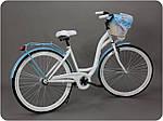 Велосипед женского города Goetze BLUEBERRY 28 корзина !!!Цвет бело-голубой, фото 2