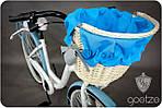 Велосипед женского города Goetze BLUEBERRY 28 корзина !!!Цвет бело-голубой, фото 3