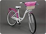 Велосипед женского города Goetze BLUEBERRY 28 корзина !!!Цвет бело-голубой, фото 4
