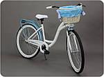 Велосипед женского города Goetze BLUEBERRY 28 корзина !!!Цвет бело-голубой, фото 5