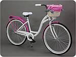 Велосипед женского города Goetze BLUEBERRY 28 корзина !!!Цвет бело-голубой, фото 6
