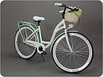 Велосипед женского города Goetze BLUEBERRY 28 корзина !!!Цвет бело-голубой, фото 10