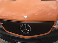 Mercedes Sprinter 2006-2018 гг. Зимняя накладка на решетку (2013↗) Глянцевая