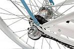Велосипед женский город Goetze BLUEBERRY 28 3b корзина! бело-голубой, фото 2