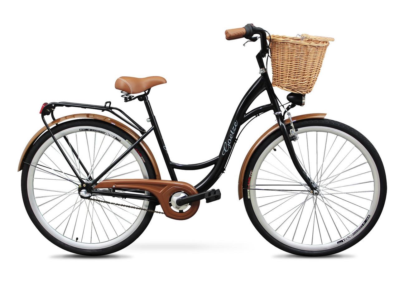 Женский городской велосипед GOETZE 28 3biegi корзина бесплатно! Цвет - чорний