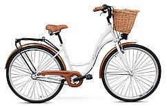 Женский городской велосипед GOETZE 28 3biegi корзина бесплатно! Цвет - белий