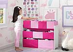 Розовый органайзер для игрушек, полка с ящиками, фото 5
