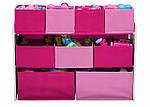Розовый органайзер для игрушек, полка с ящиками, фото 8