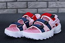 Сандали женские (Фила) Fila Disruptor (розовые) Top replic, фото 3