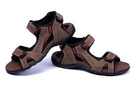 Мужские кожаные сандалии Ecco Active Drive Olive (реплика) р. 40,41,42,43,44,45