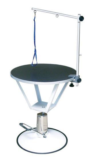 Гидравлический стол Blovi Event, черный  верх с диаметром 70 см