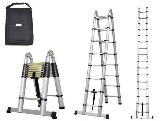 Лестница стремянка телескопическая 620 cm С СУМКОЙ