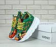 Кроссовки женские Versace (зеленые) Top replic, фото 2