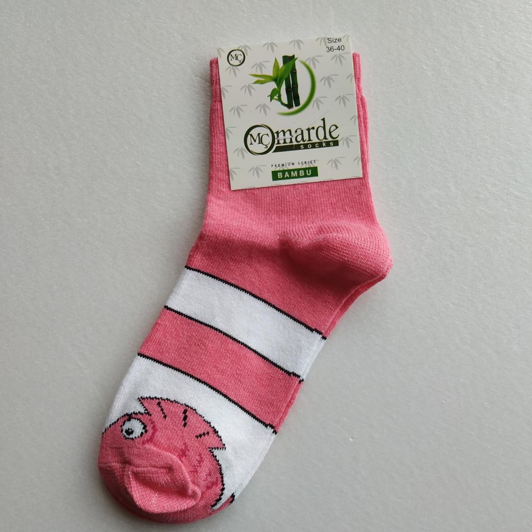 Носки женские розовые с принтом размер 36-40