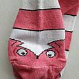 Носки женские розовые с принтом размер 36-40, фото 4