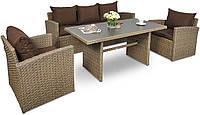 Мебель для сада STELVIO Technorattan - Светло-коричневый