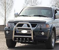 Нержавіючий кенгурин на автомобіль Mitsubishi Pajero Wagon IV