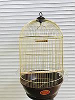 Круглая клетка для попугаев ™️ «Золотая клетка» gold brown 40*70, фото 1