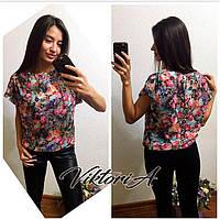 Блузка в цветочек (есть 44 размеры)