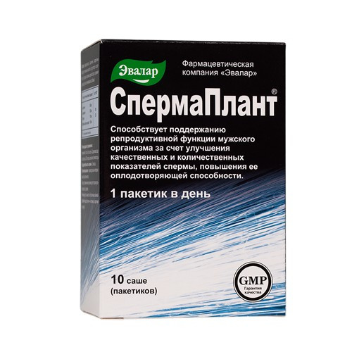 Спермаплант n10 саше по 3,5г, Эвалар