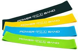 Лента эспандер для фитнеса MINI POWER BAND - комплект из 4-х пластин
