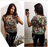 Блузка в цветочек (есть 42,44,46 размеры)