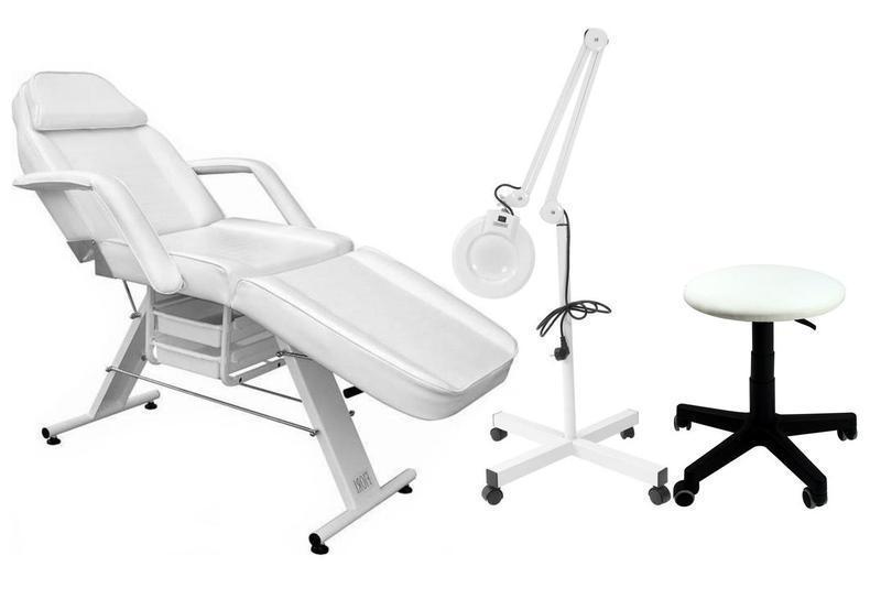 Кушетка косметологическая + лампа 5Dpi + кресло хокер