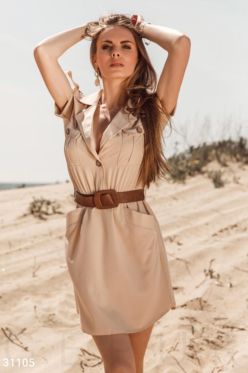 Трикотажное платье с ремнем